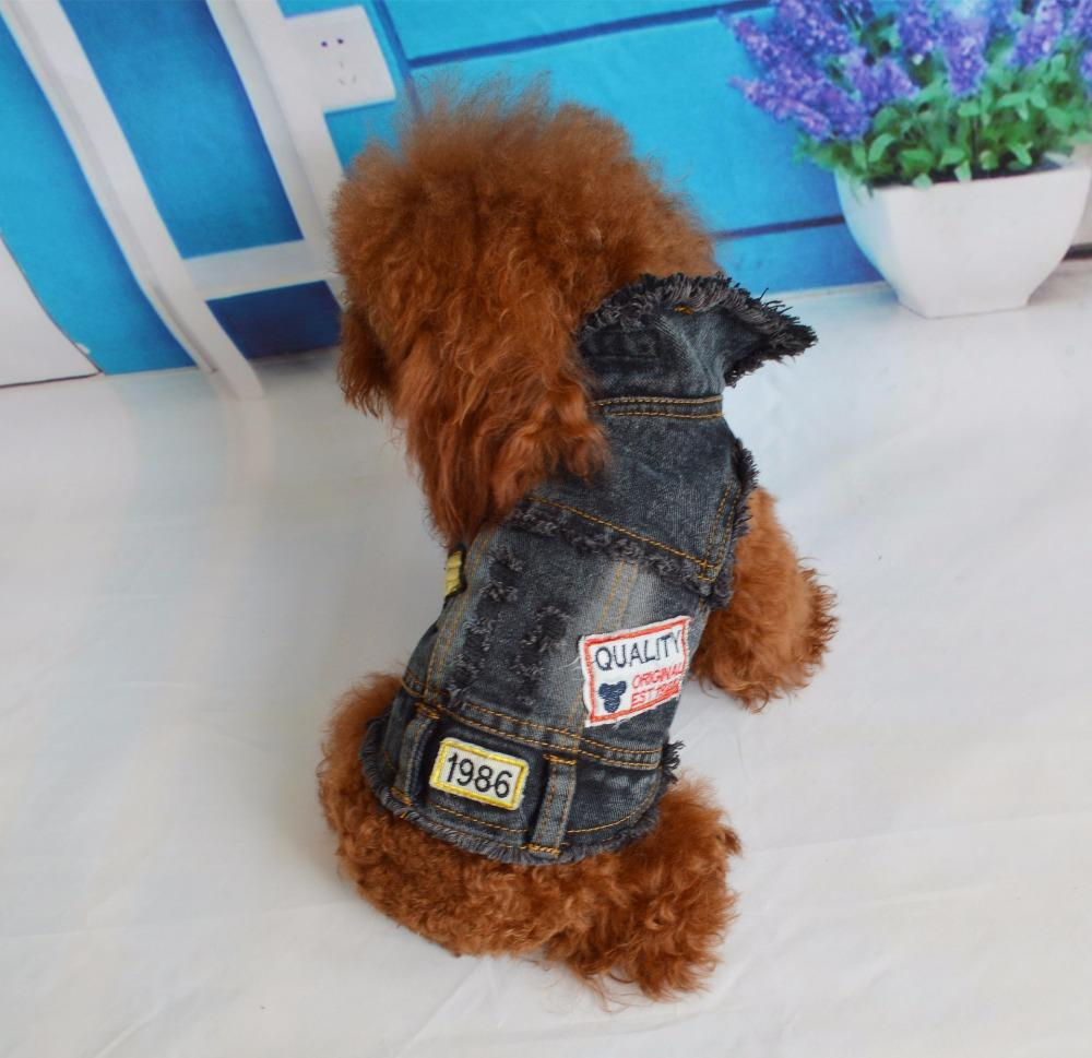 2017 Jean New Clothes For Dogs Manteau Chien Factory Direct Sale Explosion Models Dog Clothes Cool Denim Dog Vests Pet Clothing