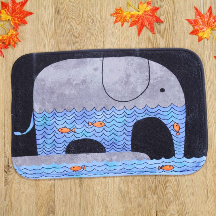2017 Kawaii Animal Dog Cute Cat Print Bathroom Kitchen Carpets Doormat for Living Room Anti-Slip Tapete Rug Welcome Floor Mats