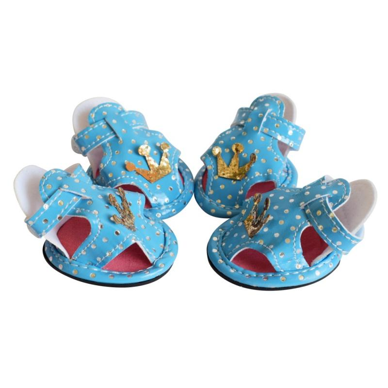 2017 Leopard Dog Shoes Pet Dog Shoes  Chihuahua PU dog Shoes Cute Pet Product Shoe 3 Colors 5 Size Hot