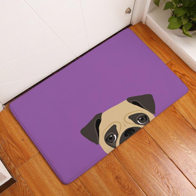 2017 Modern Painting Cute Little Dogs Print Carpets Anti-Slip Floor Mat Outdoor Rugs Animal Front Door Mats Non-slip Doormats