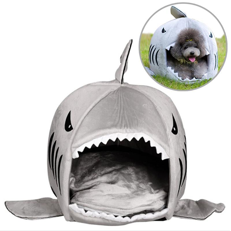 2017 Multifunctional Shark Pattern Kennel Dog & Cat Beds Soft Comfortable Nest Cotton Dog House Cat Beds & Sofa Pet Accessories