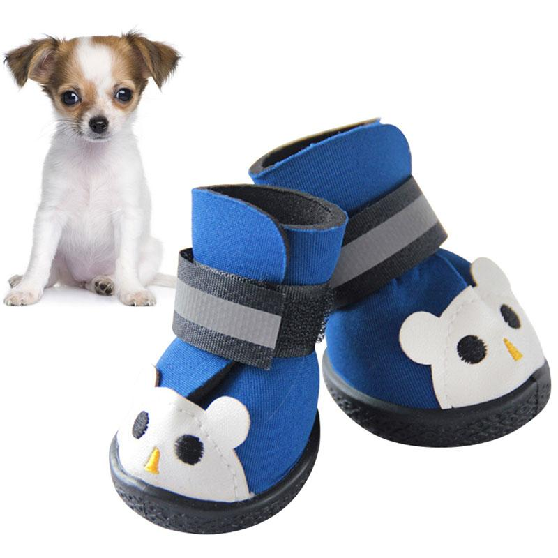 2017 New 4pcs Winter Pet Dog Shoes Warm Dog's Boots Cotton Waterproof Anti Slip Shoes For Pet Product Shoes Durable Y6