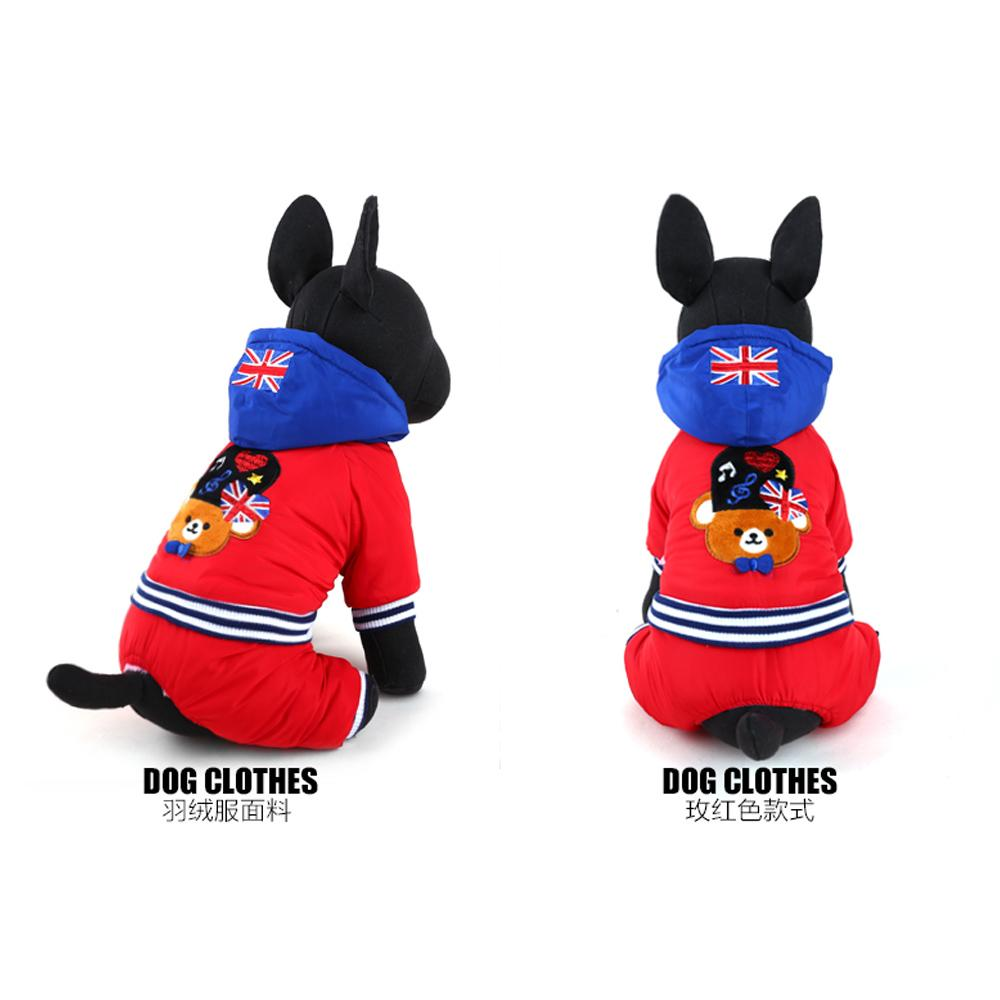2017 New Arrival Pet Dog Clothes Winter Warm Windproof Dog Coats Cotton Dog Parkas Puppy Dog Apparel Size XXS-L For Chihuahua