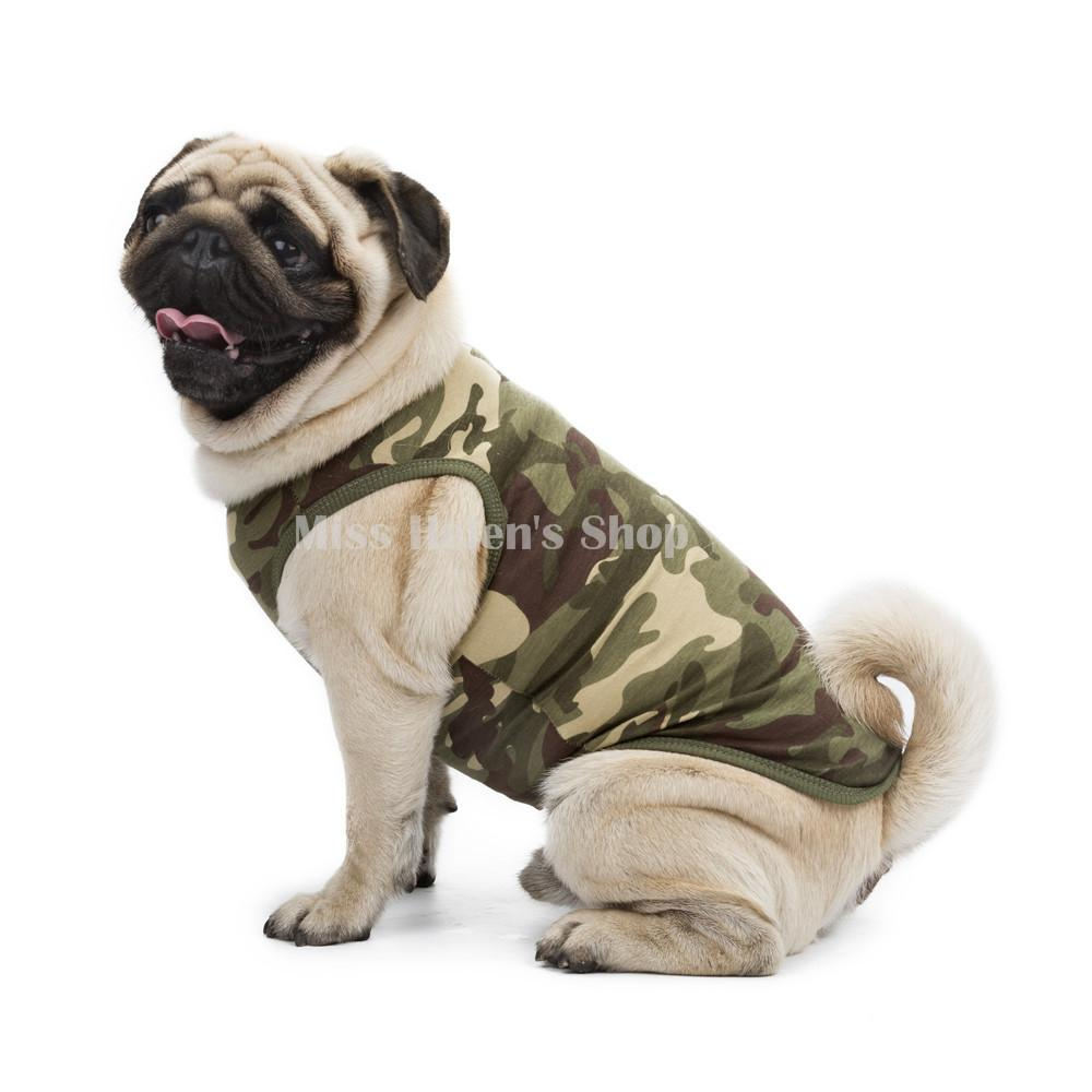 2017 New Arrival Pet Dog T Shirt Small Dog Clothes Summer Camouflage Cotton Puppy Shirt Vest High Quality Apparel for Poodle Pug