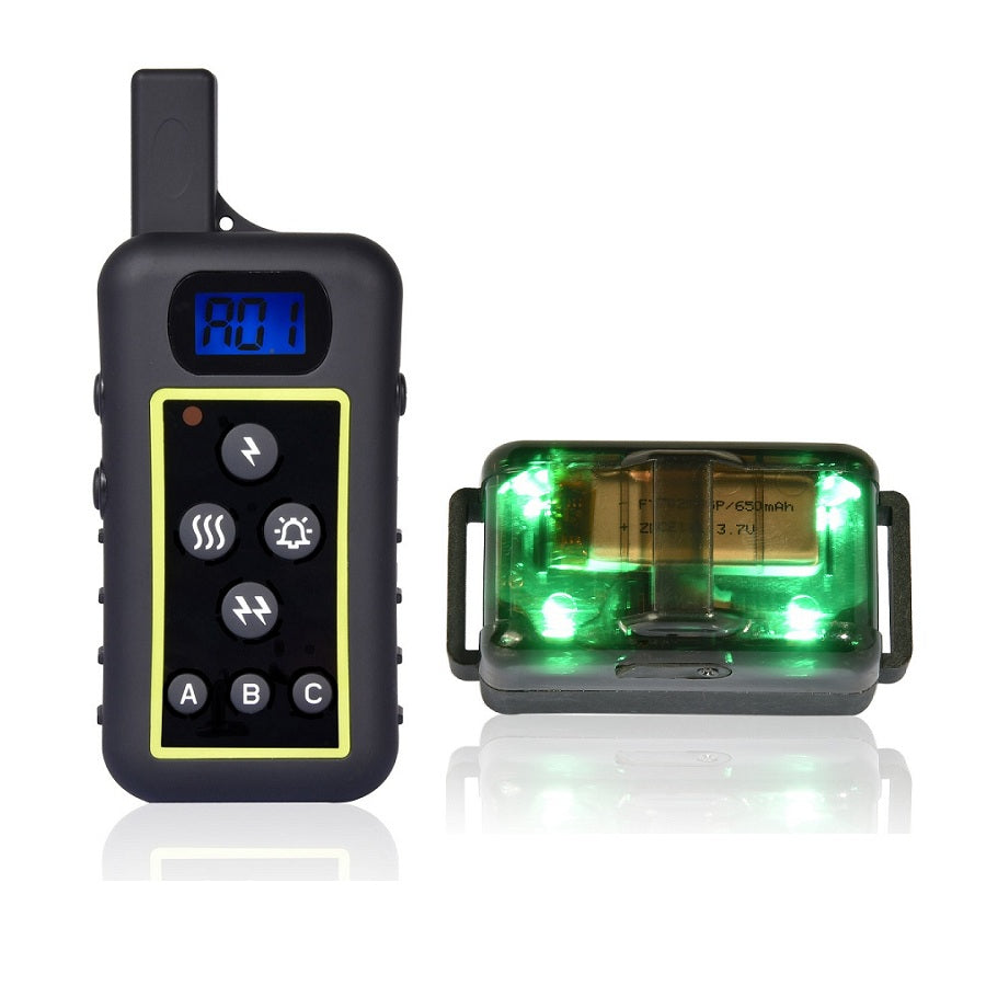 2017 New Beeper Remote At Once 10 Levels Of Vibration Shock 2000 Meter Range 100% Waterproof Dog Traning Collar