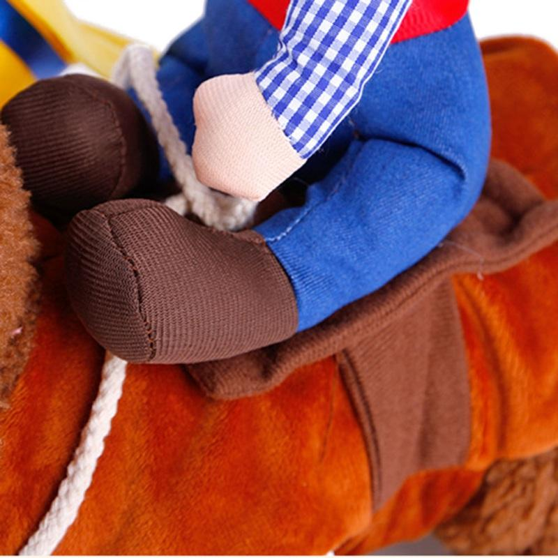 2017 New Cowboy Dog Costume Novelty Clothes for Dogs Riding-horse Outfit Funny Pets Costume Party Cosplay Pet Jacket Y6