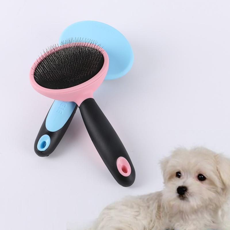 2017 New Dog Cat Pet Hair Fur Comb For Grooming Shedding Grooming Trimmer Flea Comb Brush Slicker Rake Dog Combs D1