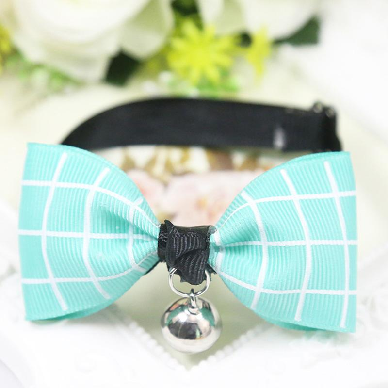 2017 New Fashion Adjustable Puppy Kitten Dog Cat Pet Bow Tie With Bell Necktie Cute Collars Pet Products Free Shipping pd276