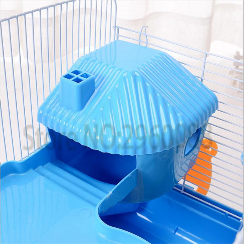 2017 New Free shipping The cage hamster Iron wire Pet Cage Pet supplies The cage Heightening Three layers hamster Sleep the room