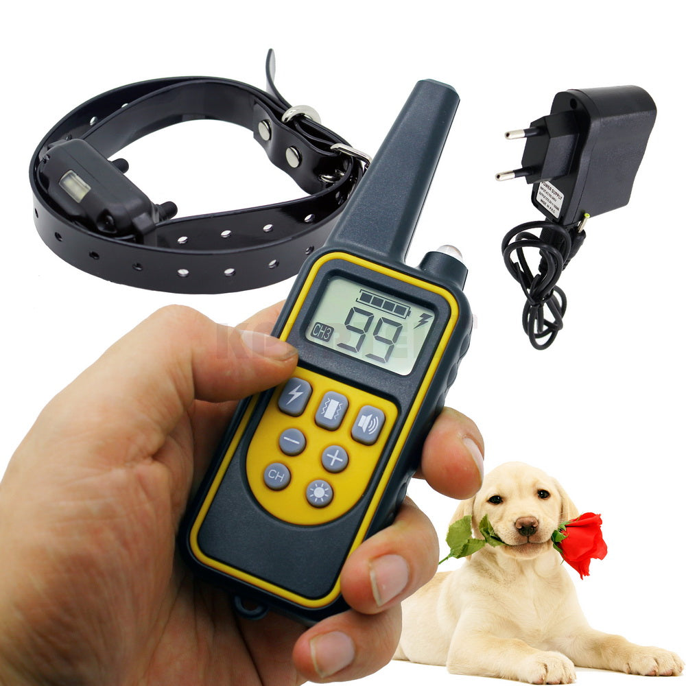 2017 New High-end 800 meters Remote Dog Training Collar Rechargeable and waterproof KPHRTEK KP-DT01 Shock Vibration