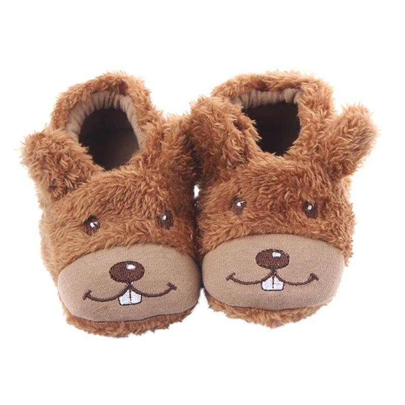 2017 New Infant First Walkers Shoes Cute Smile Dog Baby Boy and Girl Fabric Cartoon Style Warm Baby Shoes