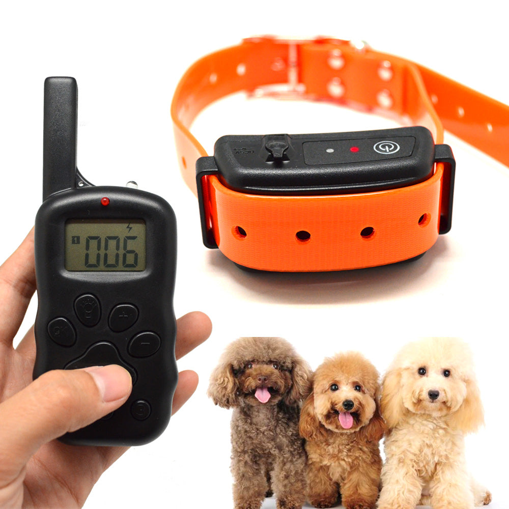 2017 New JH-X600B Bark Terminator-3 Dog No Bark Dog Training With Remote Controller LED LCD Display 1-100 Level For 1 2 3 Dogs