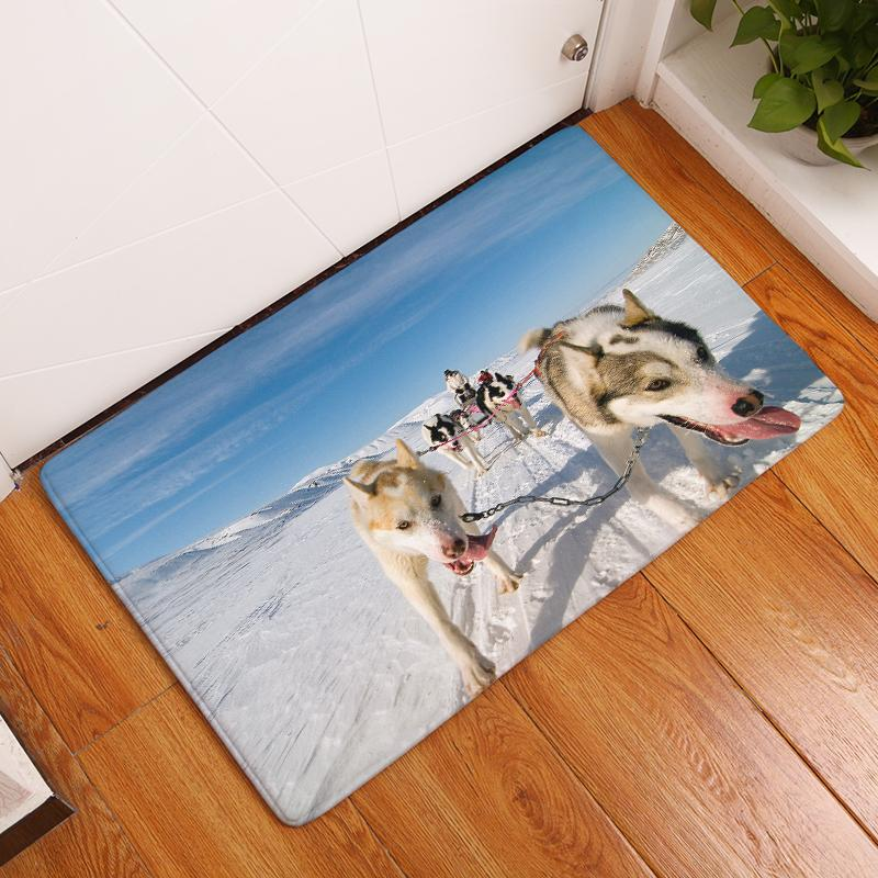 2017 New  Meng Dog Print Carpets Non-slip Kitchen Rugs for Home Living Room Floor Mats 40x60cm 50x80cm