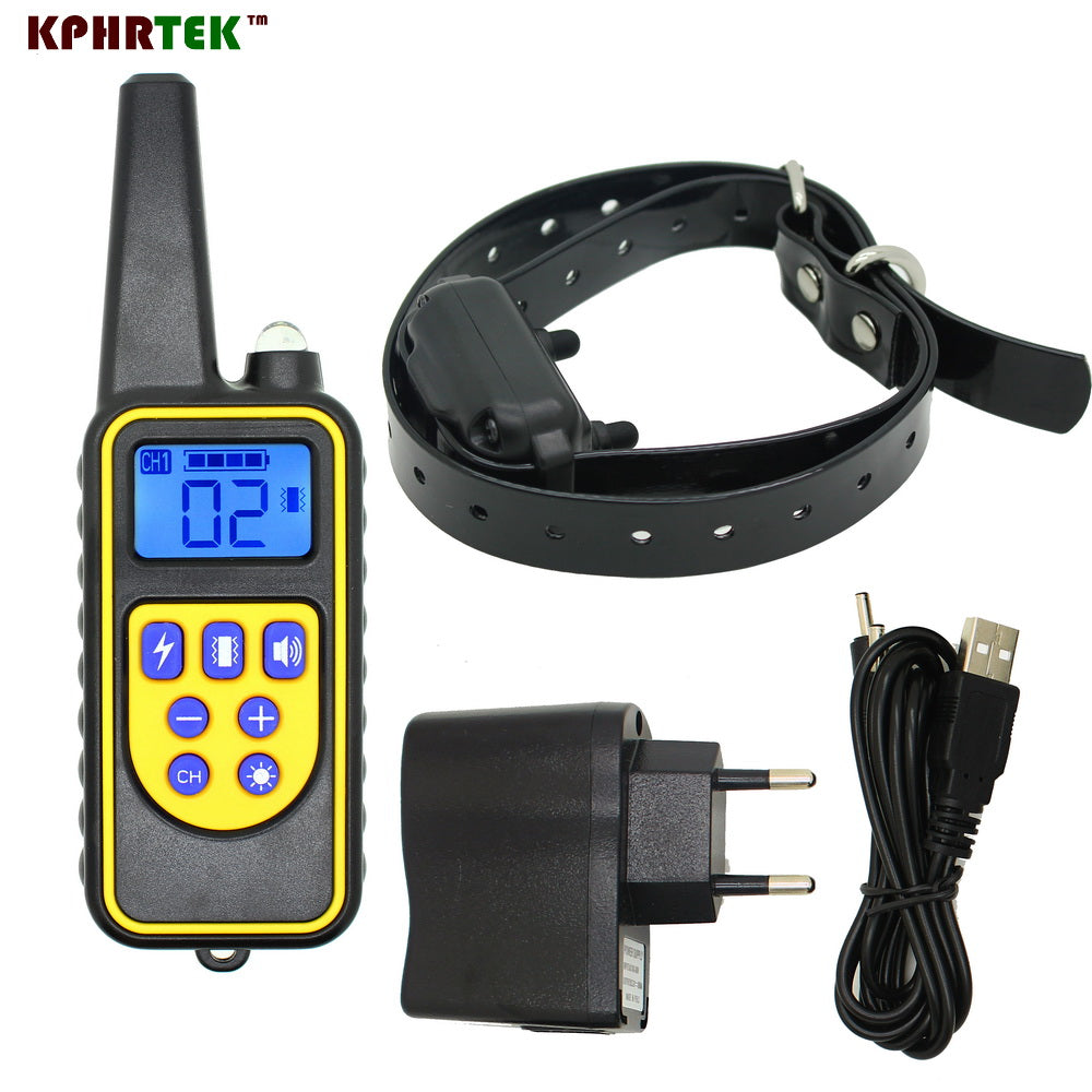 2017 New  Model 800m Dog Remote Training Collar system Rechargeable and waterproof High quality Trainer with Shock Vibration LED
