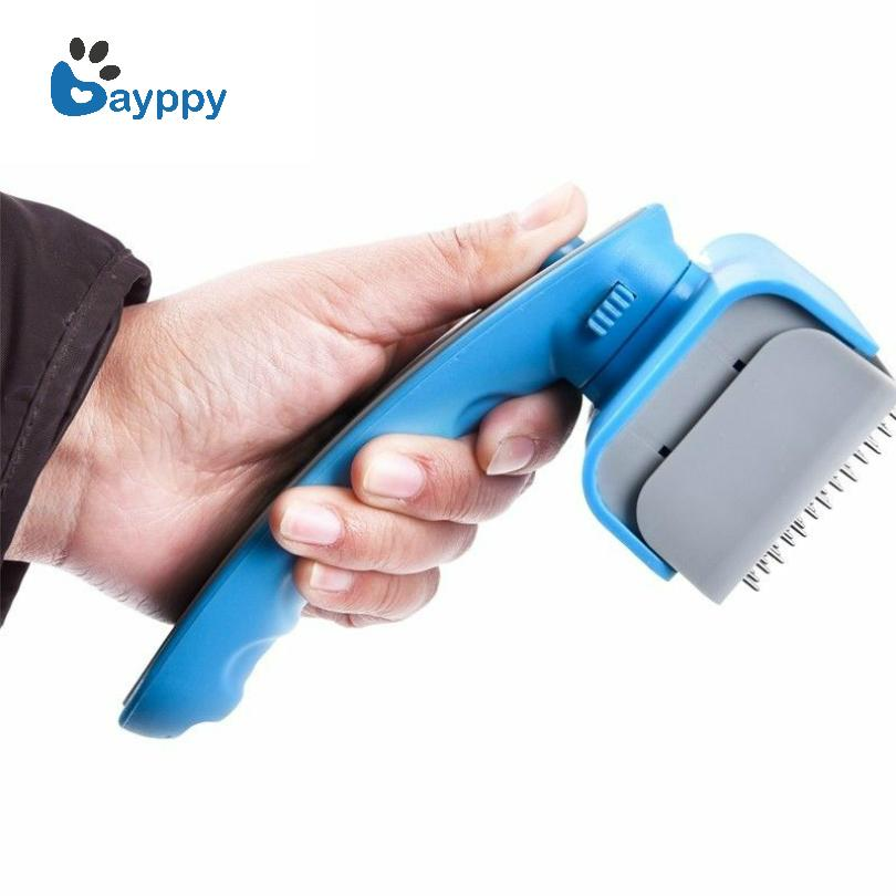 2017 New Pet Supplies Grooming Brush For Cat Dog Pet One Key Fur Hair Removal Cat Grooming Comb Dog Hair Shedding Tool Easy Use