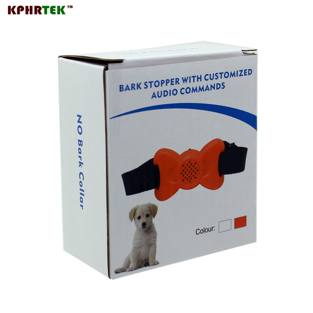 2017  Sep New Anit Bark  Bark Stopper with Customized Audio Commands No Bark Training Collar