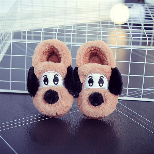2017 autumn and winter new cartoon dog warm cotton slippers men and women skid cotton shoes GXJ131