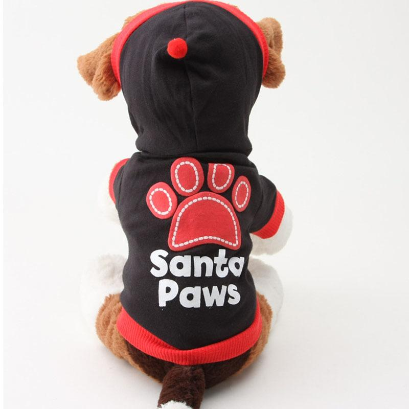 2017 hot carton Small Pet Dog Clothes Cat Cotton coat Hoodie Vest Paws chihuahua clothes for small dogs