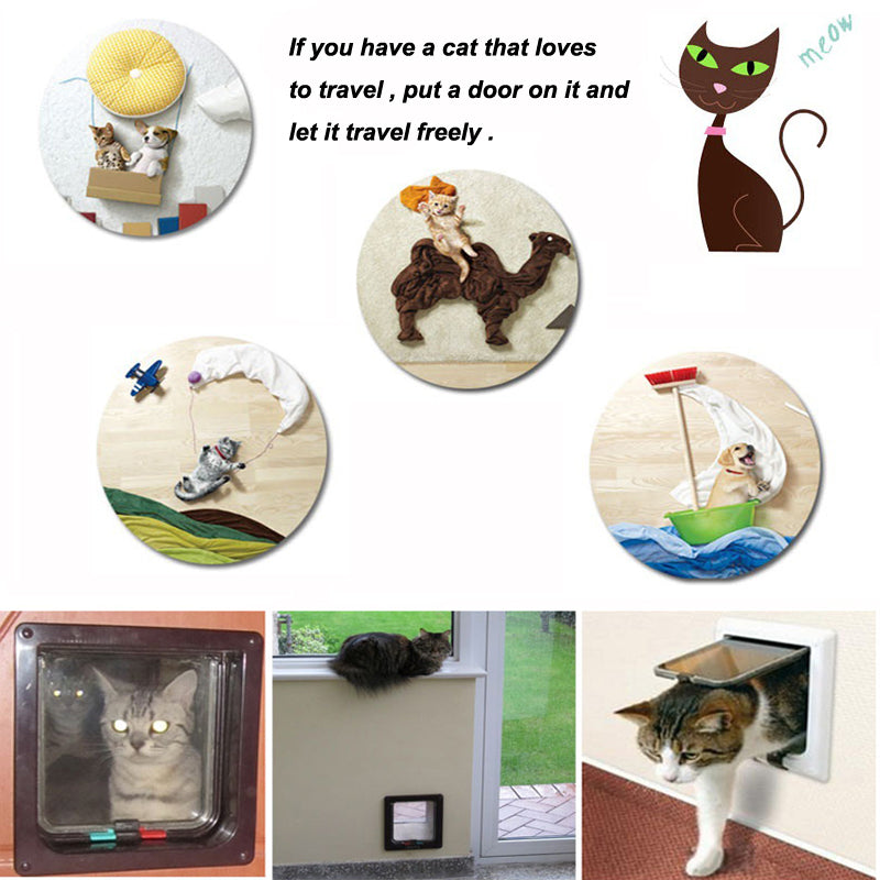 2018 New durable high quality intelligent control two colors and three sizes safe dog door to lovely pet dog cat