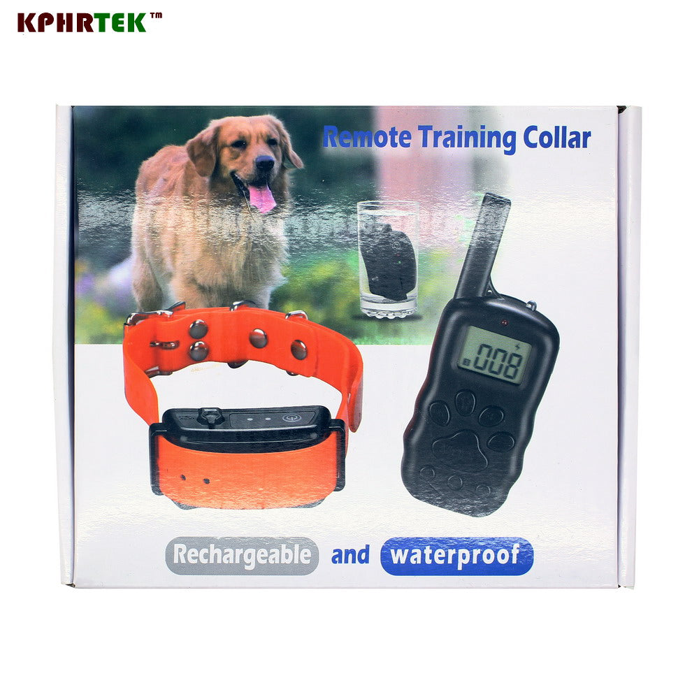 20pcs/lot Full Waterproof and Rechargeable LCD 300M Dog Remote Training Collar for 3 dogs collars