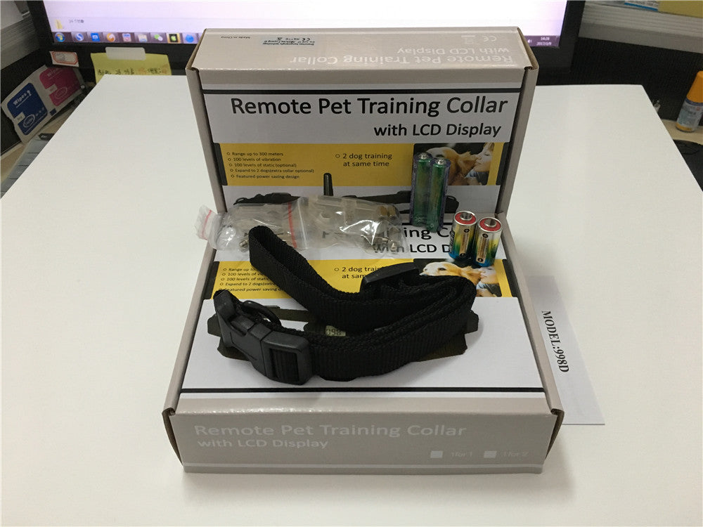 20set/lot *100 LV 100LV 300 Meters Remote Control Pet Dog Training Collar With LCD Display For 1 Dog 998D (for 1 dogs)