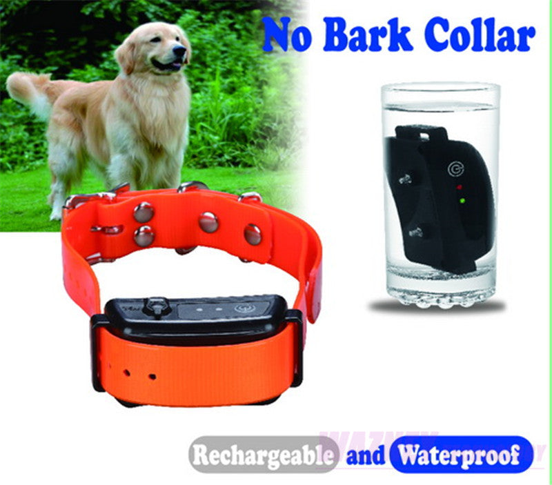 20set/lot* Dog Trainer 2016 new Rechargeable & Waterproof Pet dog 6 level 6LV no bark collar anti bark training collar