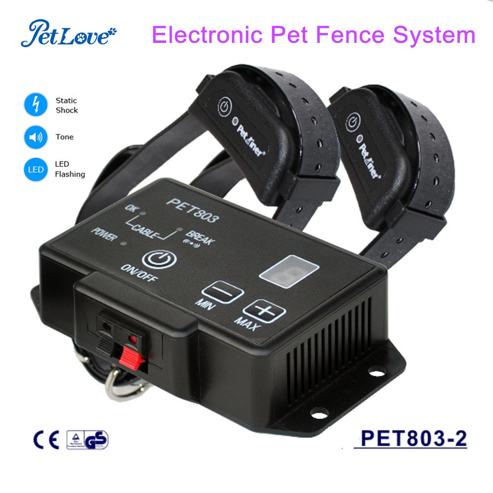 2500 Square Meters Coverage In-ground Electronic Pet Fence System Waterproof and Rechargeable Collar for Pet Training