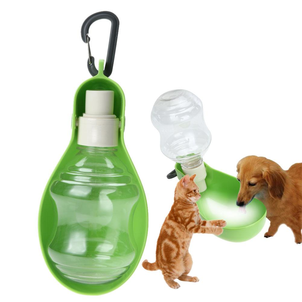 Portable Pet Dog Cat Travel Drinking Water Bowl Bottle: 250ml Foldable Pet Dog Water Bottle Outdoor Travel