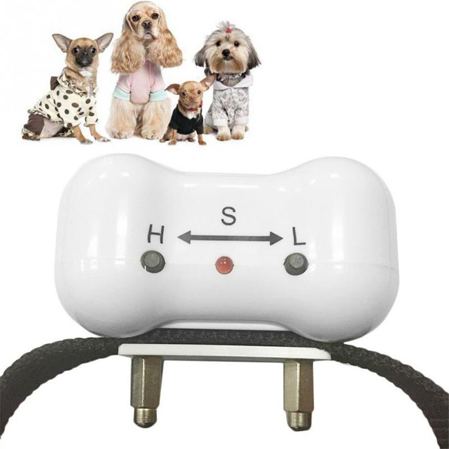 250set/lot * Bone Shaped Voice control ELECTRONIC AUTO Small/Medium Anti No Bark Dog Training Shock Collar bark stop collar