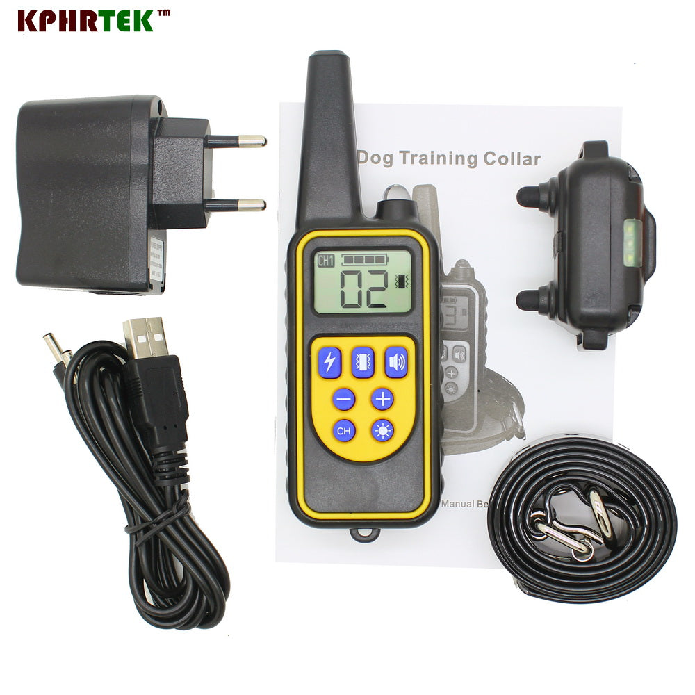 3 pcs/lot New Arrive 800 meters Remote Dog Training Collar Rechargeable and waterproof KPHRTEK KP-DT01
