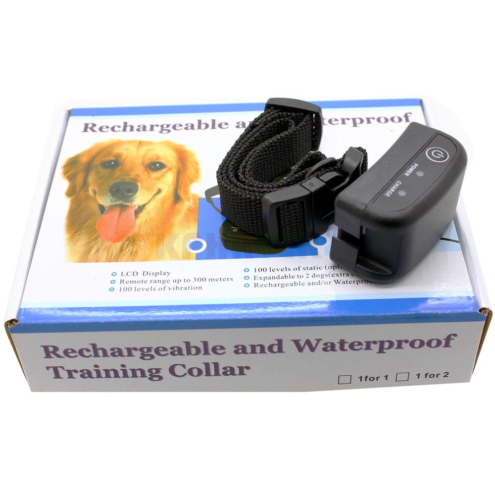300M 100LV Shock Rechargeable And Waterproof Dog Training Collar For 1 Dog Diving Swiming Training Collar