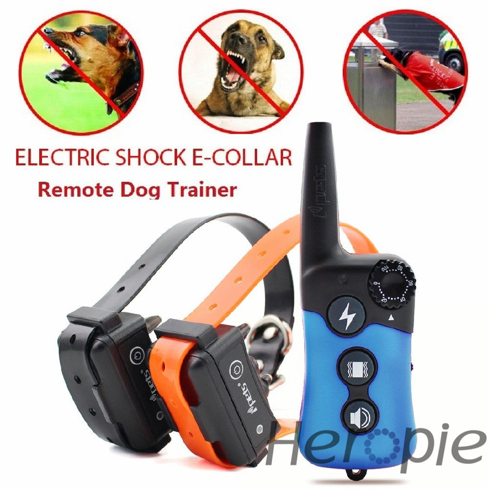 300M Dog Training Collars Waterproof Rechargeable Remote Electric Electronic Shocking Vibration Pet Trainer For 1 or 2 Dog