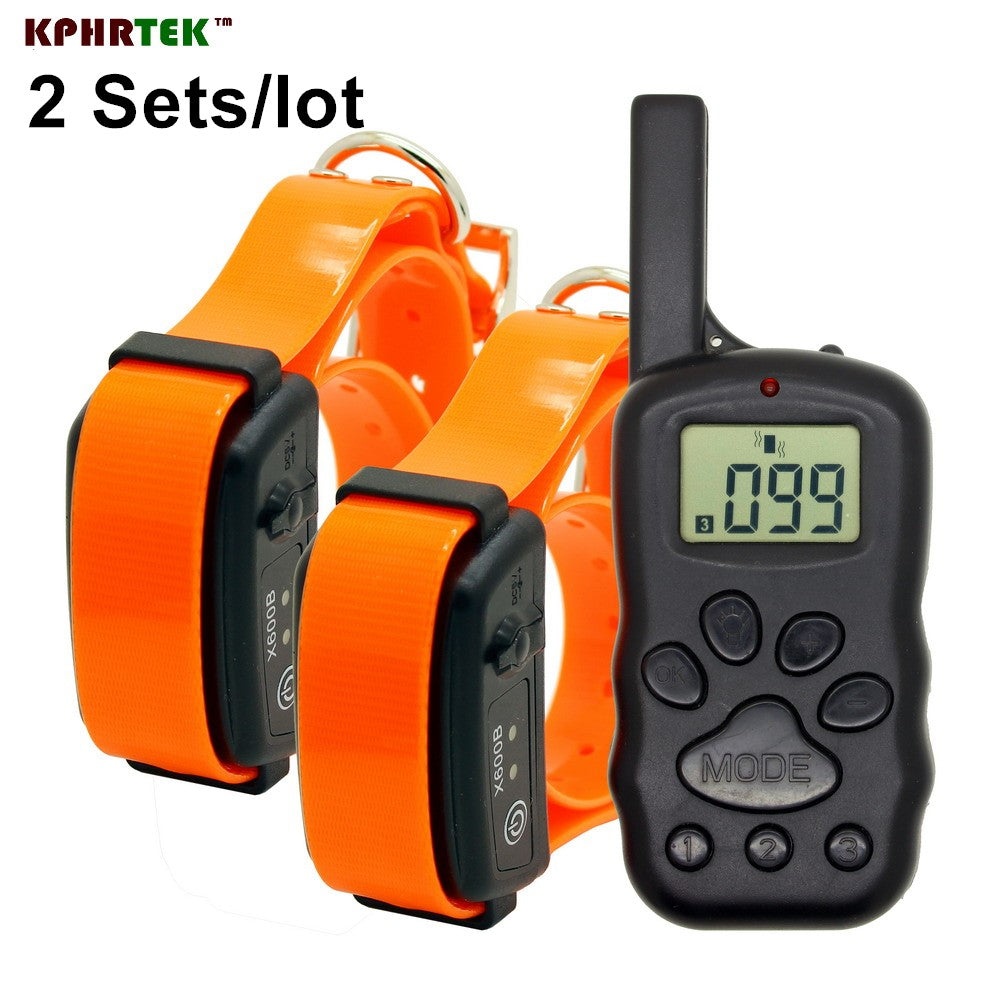 300M Remote Dog Training collar for 2 dogs  LCD display Rechargeable and Waterproof X600B Dog Trainner
