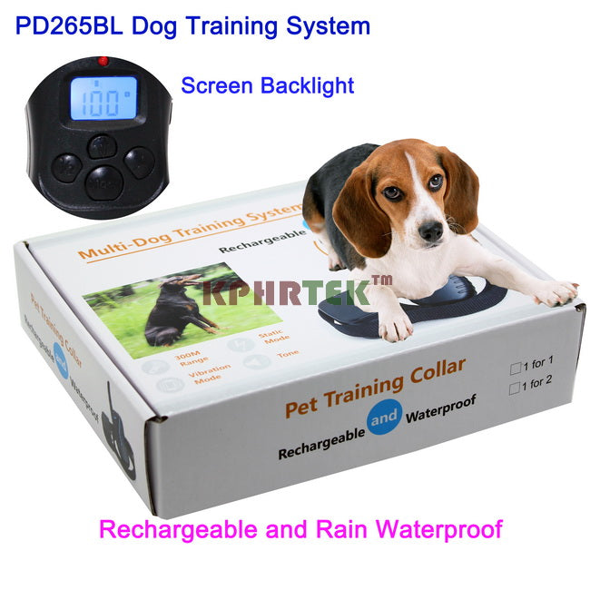 300M Waterproof And Rechargeable 100LV Shock Dog Training Collar For 1 or 2 Dogs