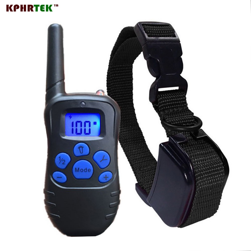 300m Remote Control Dog Training collar Rechargeable and Waterproof Blue Backlight Colorful Button  998DR 998DRB