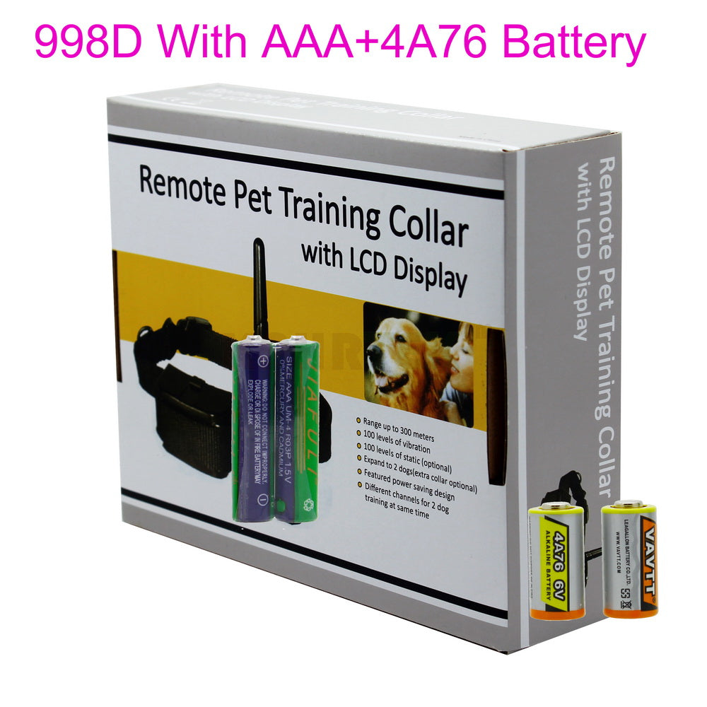 300meter 100LV Shock Vibra Remote Electric Dog Training Collar For 1 Dog 998D-1 ,10pcs/lot