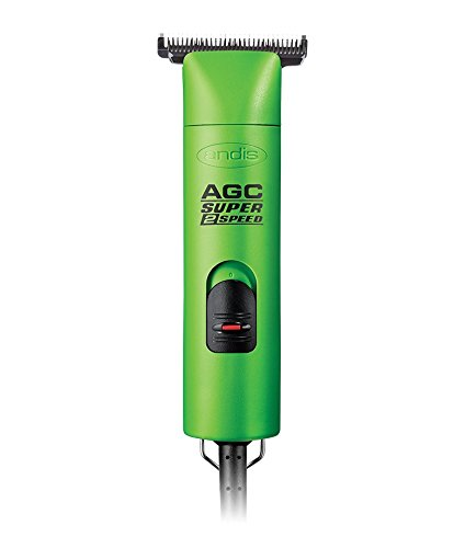 Andis AGC Super 2-Speed with T-84 Detachable Blade Clipper Professional Equine Grooming, Cleaning Blade Brush Included (Green)