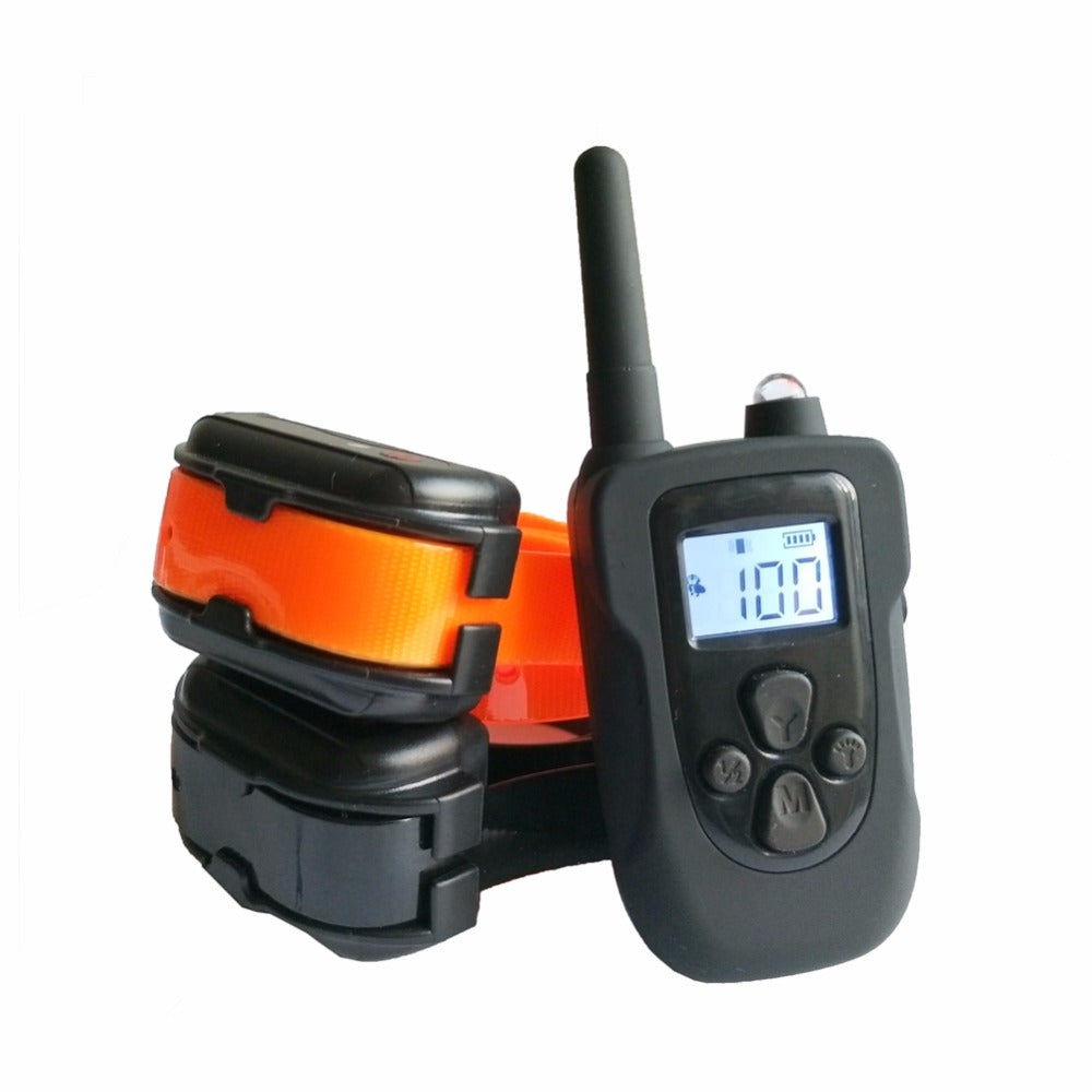 330m Remote Dog Training Collar Waterproof Electric Shock Collar Dog Training With Vibration/Shock/ Tone