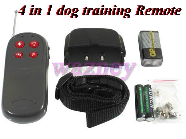 4 in 1 Vibration and Static Impulse ELECTRONIC REMOTE DOG TRAINING COLLAR No Bark REMOTE DOG TRAINING Shock * 20pcs/lot *