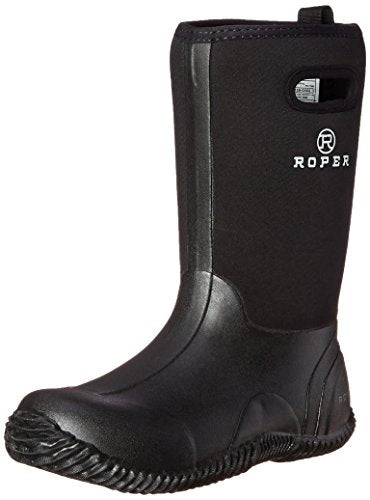 Roper Barnyard Rubber Barn Yard Chore Boot (Toddler/Little Kid/Big Kid), Black, 5 M US Big Kid