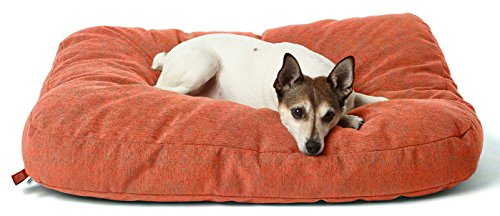 Lakehouse Dog Bed by Mosier Valley, Medium, Persimmon - Premium Quality - Machine Washable - Made in USA