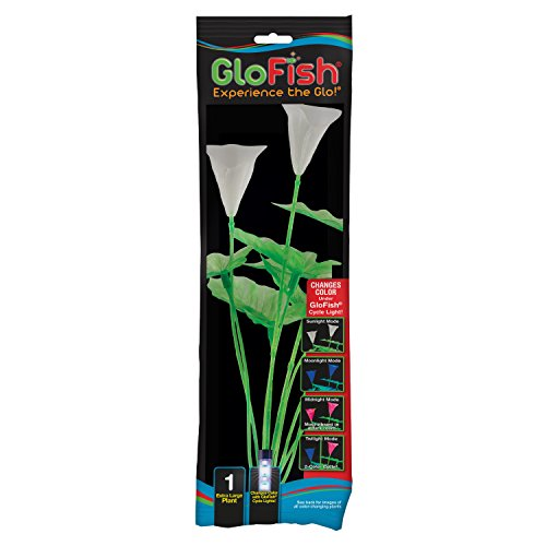 GloFish 19272 Extra Large Color Changing Green Plant