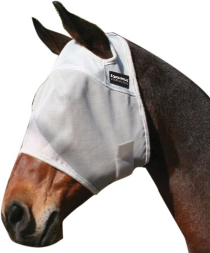 Equisential by Professionals Choice Equine Fly Mask (Horse Gray)