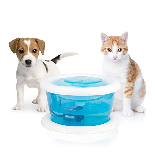 Petphabet Pet Fountain, Cat Water Fountain Bowl with Replaceable Filter Dog and Cat Drinking Fountains,2L/67oz by