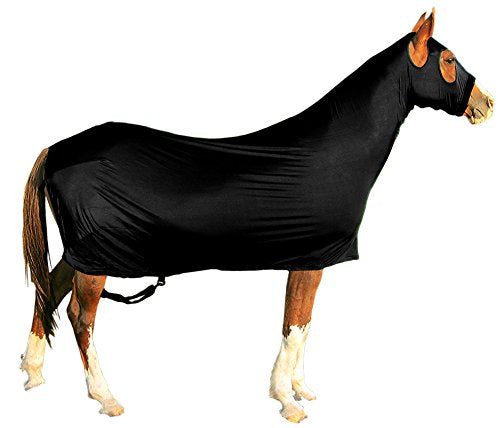 Derby Originals Lycra Full Body Horse Sheets with Neck Cover, Black, Medium