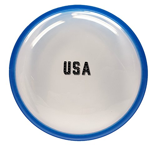 50 Strong Soft Touch Easy Catch Flying Disc - Made in USA - Great Toy for Adults and Kids - Fun Frisbee Game for Summer