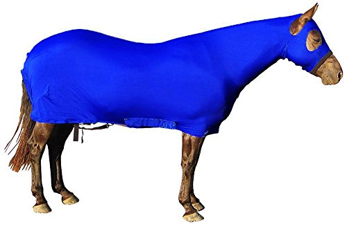 Derby Originals Lycra Full Body Horse Sheets with Neck Cover, Royal Blue, Large