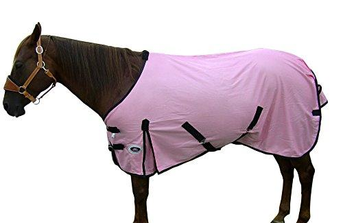 Derby Originals Nylon Mesh Horse Fly Sheets, Pink with Black Trim, 74""