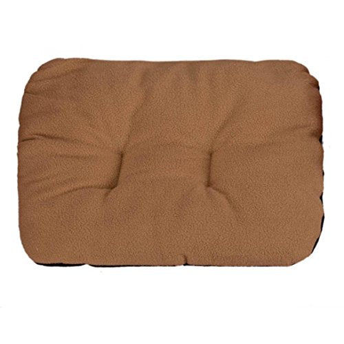 DEESEE(TM) Dog Blanket Pet Cushion Dog Cat Bed Soft Warm Sleep Mat (Brown)