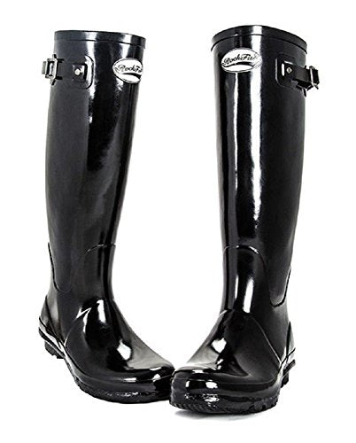 Shires Rockfish Orig Tall Gloss Wellington Boot 8 Black